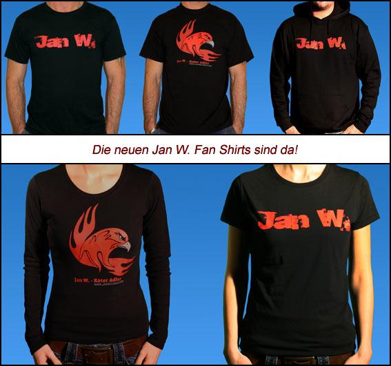 Die neuen Jan W. Fan T-Shirts und Sweatshirts